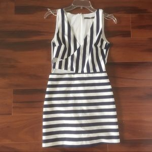 NWOT Zara Trafaluc Short Striped Jumpsuit Cutout